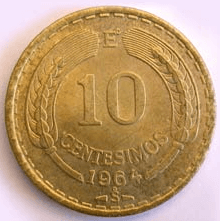 10 centesimos chilenos