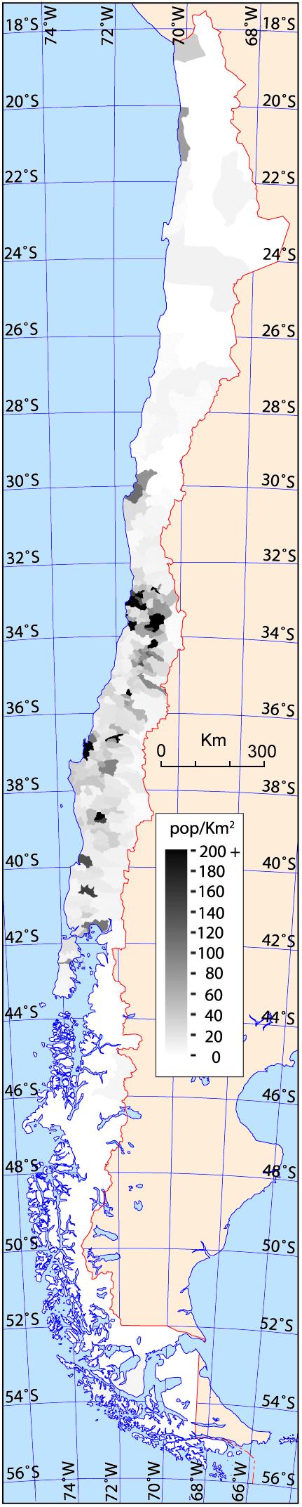 un mapa de densidad de población