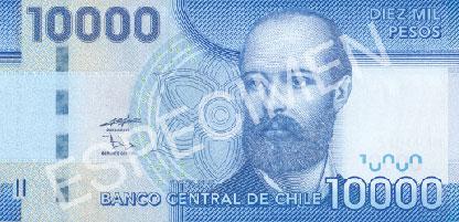 10000 pesos front