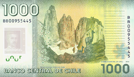 1000 Chilean Pesos (back)
