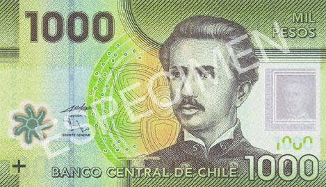 1000 Chilean Pesos (front)