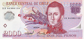 front of 2000 peso banknote