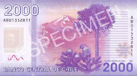 2000 pesos chilenos reverso